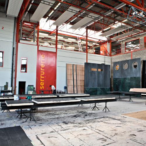 Visite atelier de construction de décors